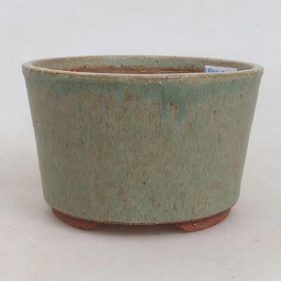 Bonsaischale aus Keramik 10 x 10 x 6,5 cm, Farbe grün - 1