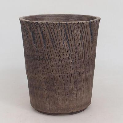 Bonsaischale aus Keramik 15 x 15 x 17,5 cm, rissige Farbe - 1