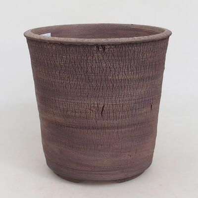 Bonsaischale aus Keramik 16,5 x 16,5 x 16,5 cm, Farbe rissig - 1