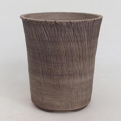 Bonsaischale aus Keramik 15 x 15 x 17 cm, Farbe rissig - 1