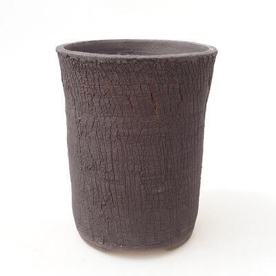 Bonsaischale aus Keramik 12 x 12 x 16 cm, Farbe rissig - 1