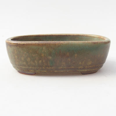 Keramik Bonsaischale 13 x 8,5 x 3,5 cm, Farbe grün - 1