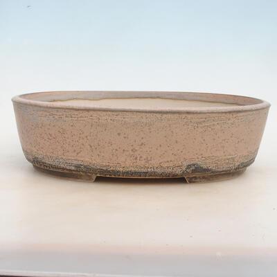 Bonsai-Schale 33,5 x 26 x 9,5 cm, grau-beige Farbe - 1