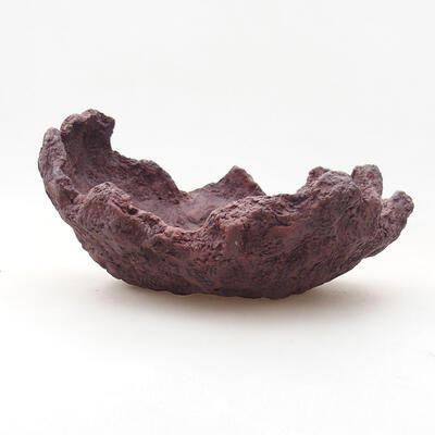 Keramikschale 15 x 13 x 9 cm, graue Farbe - 1