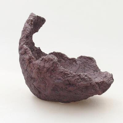 Keramikschale 11 x 10,5 x 11,5 cm, graue Farbe - 1