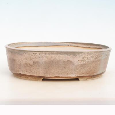Bonsai-Schale 34 x 26 x 9,5 cm, grau-beige Farbe - 1