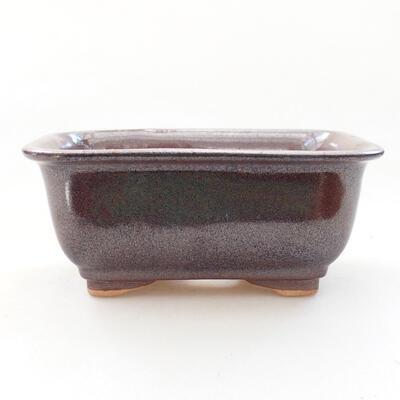 Bonsaischale aus Keramik 13 x 10 x 5,5 cm, braune Farbe - 1