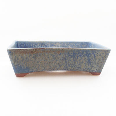 Bonsaischale aus Keramik 12 x 9 x 3,5 cm, Farbe blau - 1