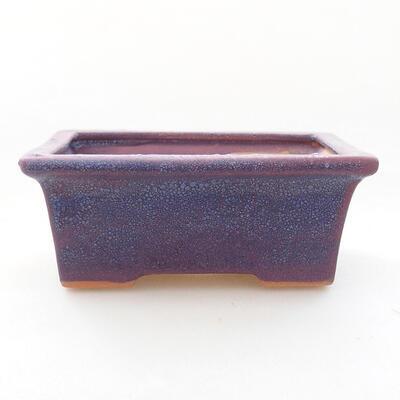 Bonsaischale aus Keramik 11 x 8,5 x 4,5 cm, Farbe lila - 1