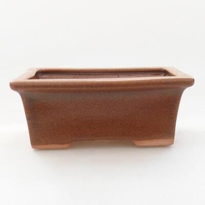 Bonsaischale aus Keramik 11 x 8,5 x 4,5 cm, Farbe braun - 1