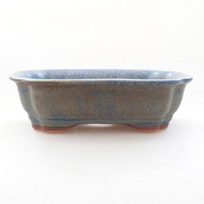 Bonsaischale aus Keramik 15 x 12 x 4,5 cm, Farbe blau - 1