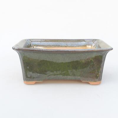 Keramische Bonsai-Schale 18 x 14 x 7 cm, Farbe grün - 1