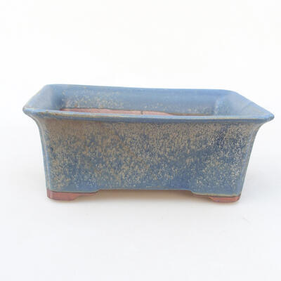Keramische Bonsai-Schale 18 x 14 x 7 cm, Farbe blau - 1