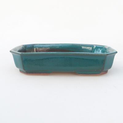 Keramische Bonsai-Schale 18 x 13 x 4 cm, Farbe grün - 1