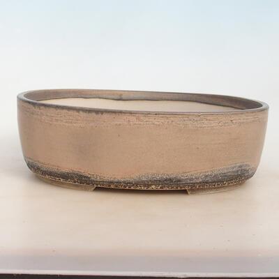 Bonsai-Schale 31 x 24 x 10 cm, grau-beige Farbe - 1