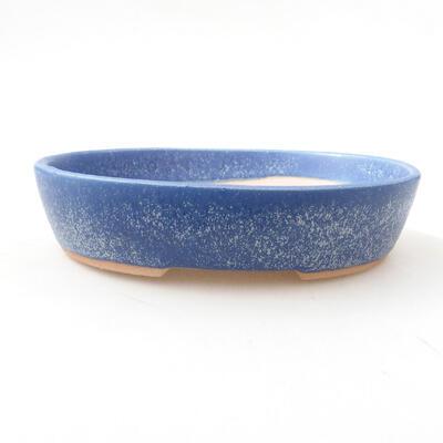 Bonsaischale aus Keramik 17 x 13,5 x 3,5 cm, Farbe blau - 1