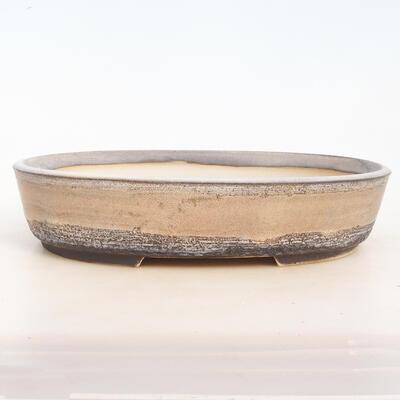 Bonsai-Schale 33 x 25 x 7,5 cm, grau-beige Farbe - 1