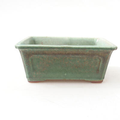 Bonsaischale aus Keramik 13 x 10 x 5 cm, Farbe grün - 1