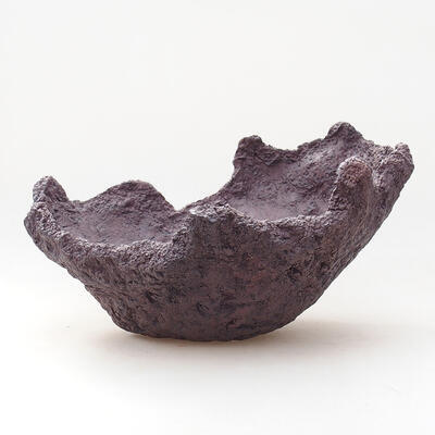 Keramikschale 21 x 20 x 16 cm, graue Farbe - 1