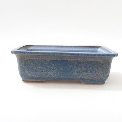 Bonsaischale aus Keramik 16 x 11 x 5 cm, Farbe blau - 1