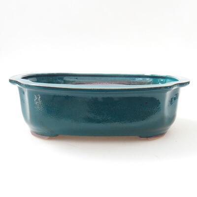 Bonsaischale aus Keramik 23 x 20 x 7 cm, Farbe grün - 1