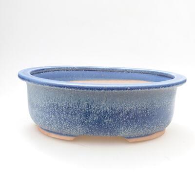 Bonsaischale aus Keramik 22 x 17,5 x 7,5 cm, Farbe blau - 1