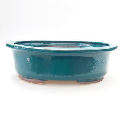 Bonsaischale aus Keramik 25 x 20,5 x 8 cm, Farbe grün - 1
