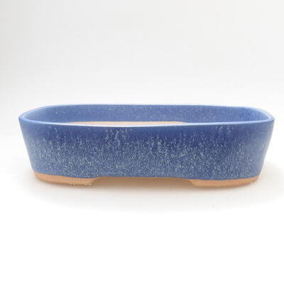 Bonsaischale aus Keramik 23 x 18 x 5,5 cm, Farbe blau - 1