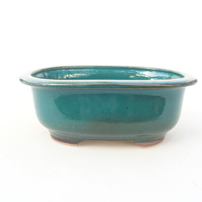 Keramische Bonsai-Schale 14 x 11 x 5,5 cm, Farbe grün - 1