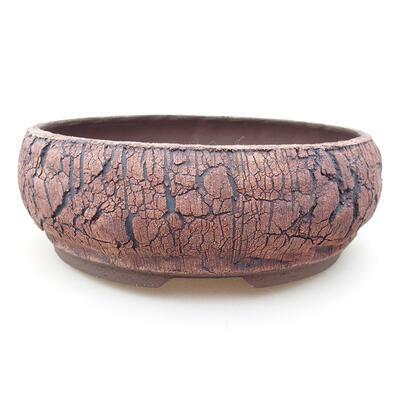 Bonsaischale aus Keramik 19 x 19 x 7 cm, Farbe rissig - 1