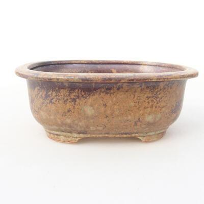 Keramische Bonsai-Schale 14 x 11 x 5,5 cm, braune Farbe - 1