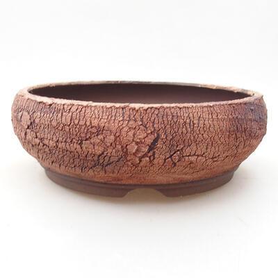 Bonsaischale aus Keramik 19 x 19 x 6,5 cm, Farbe rissig - 1