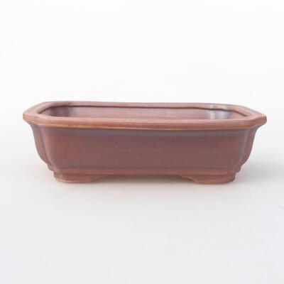 Keramische Bonsai-Schale 17 x 13 x 4,5 cm, graue Farbe - 1