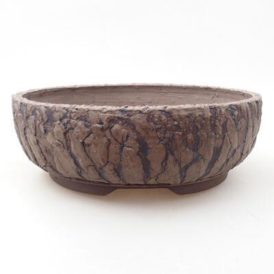 Bonsaischale aus Keramik 20 x 20 x 6,5 cm, Farbe rissig - 1