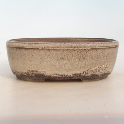 Bonsai-Schale 27 x 20 x 9 cm, grau-beige Farbe - 1