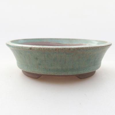 Keramische Bonsai-Schale 9,5 x 9,5 x 2,5 cm, Farbe grün - 1
