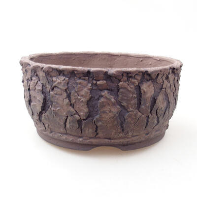 Bonsaischale aus Keramik 17 x 17 x 8 cm, Farbe rissig - 1