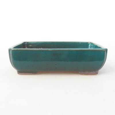 Keramische Bonsai-Schale 14 x 10,5 x 3,5 cm, Farbe grün - 1