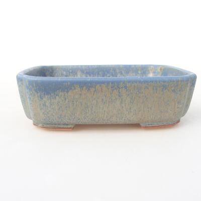 Keramische Bonsai-Schale 15 x 11,5 x 4 cm, Farbe blau - 1