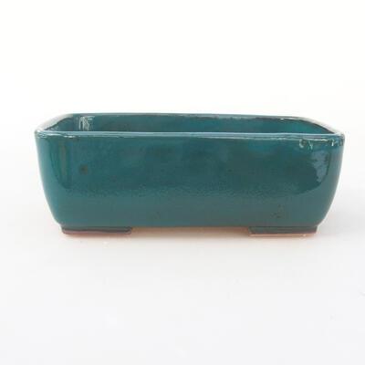 Keramische Bonsai-Schale 15,5 x 10 x 4 cm, Farbe grün - 1