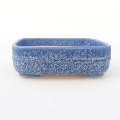 Keramische Bonsai-Schale 14 x 12 x 4 cm, Farbe blau - 1