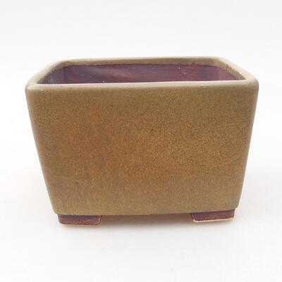 Bonsaischale aus Keramik 10 x 10 x 7 cm, Farbe braun - 1