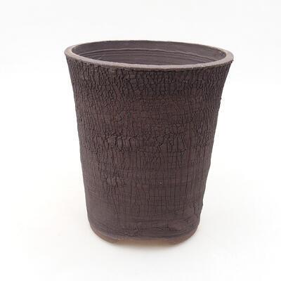 Bonsaischale aus Keramik 13,5 x 13,5 x 15,5 cm, Farbe rissig - 1