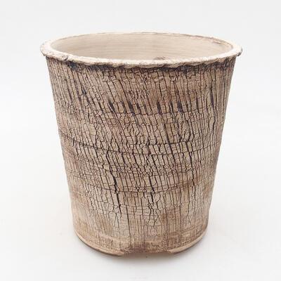 Bonsaischale aus Keramik 14 x 14 x 14,5 cm, Farbe rissig - 1