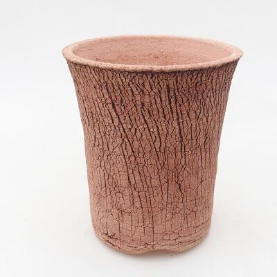Bonsaischale aus Keramik 12 x 12 x 14 cm, Farbe rissig - 1