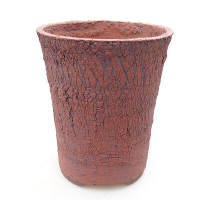 Bonsaischale aus Keramik 14,5 x 14,5 x 17 cm, rissige Farbe - 1