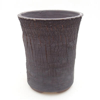 Bonsaischale aus Keramik 14 x 14 x 17 cm, Farbe rissig - 1