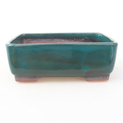Keramische Bonsai-Schale 14,5 x 11 x 5 cm, Farbe grün - 1