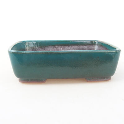 Keramische Bonsai-Schale 15 x 12 x 4,5 cm, Farbe grün - 1