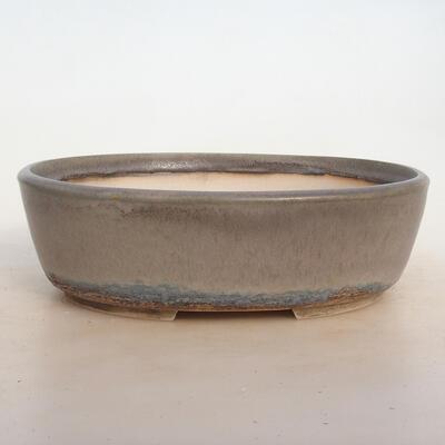 Bonsai-Schale 24 x 19,5 x 7,5 cm, grau-beige Farbe - 1